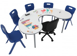 Buddy Whiteboard Moon Table 1800x1200mm